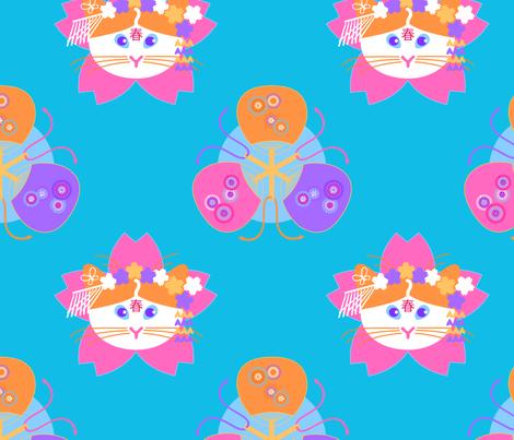 Maiko Nyao fabric by nekineko on Spoonflower - custom fabric