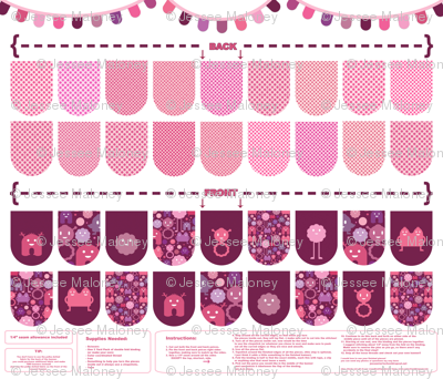 Banner/Bunting Kit - Pinks
