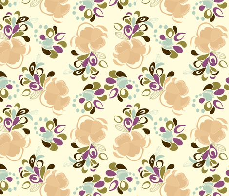 Flower Puffs fabric by marlene_pixley on Spoonflower - custom fabric