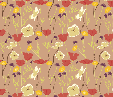 Autumn Fields 3 fabric by marlene_pixley on Spoonflower - custom fabric