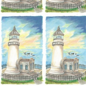 Lu_beach_Quilt_light_house
