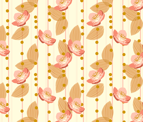 Apple Blossom Stripe fabric by marlene_pixley on Spoonflower - custom fabric