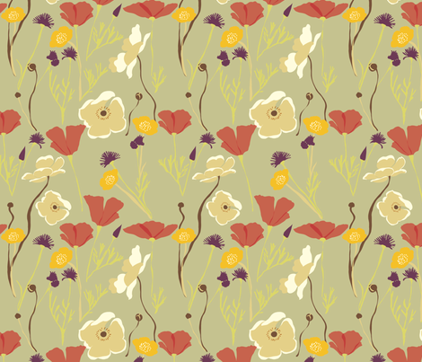 Autumn Fields 2 fabric by marlene_pixley on Spoonflower - custom fabric