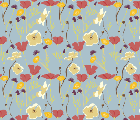 Autumn Fields fabric by marlene_pixley on Spoonflower - custom fabric