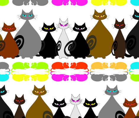 Cool Cats fabric by mishysfire on Spoonflower - custom fabric
