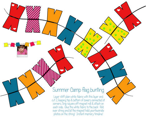 Summer Camp memory bunting fabric by tracydw70 on Spoonflower - custom fabric