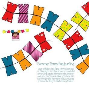 Summer Camp memory bunting