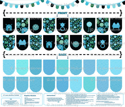 Banner/Bunting Kit - Blues