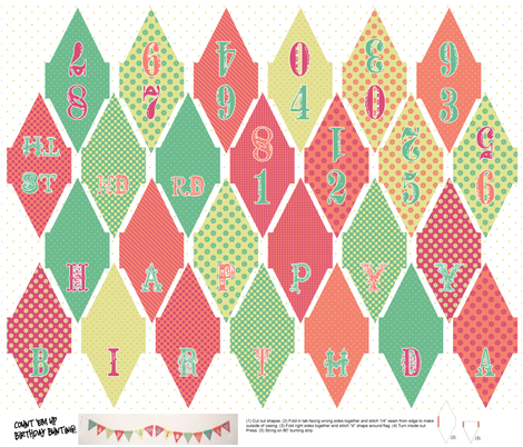 Count 'Em Up! Birthday Bunting fabric by saraink on Spoonflower - custom fabric