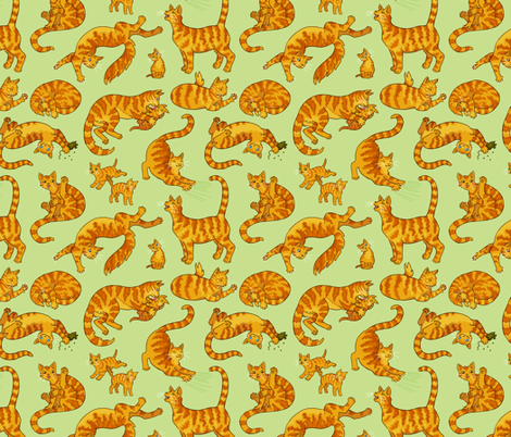 Marmalade Cats & Kittens fabric by natashad on Spoonflower - custom fabric