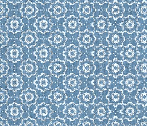 Inky Floral - French Blue fabric by kristopherk on Spoonflower - custom fabric