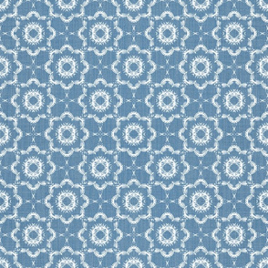 Inky Floral - French Blue