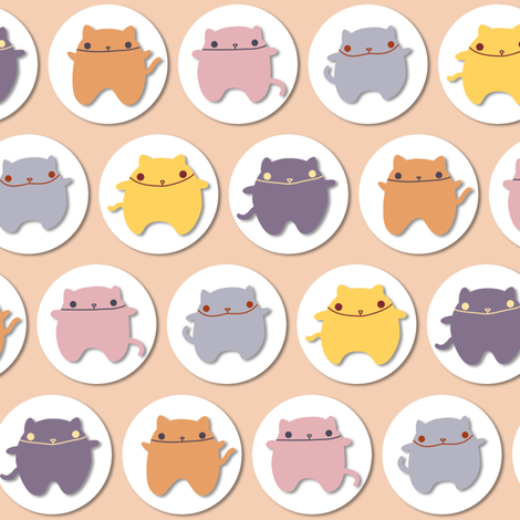 Chubby Kitties fabric by leighr on Spoonflower - custom fabric