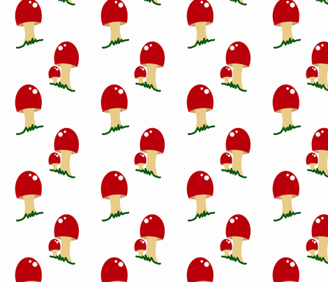 Mushroom Goodness fabric by jasmilly on Spoonflower - custom fabric