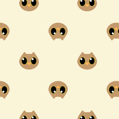 Hoot Hoot OWL fabric by jasmilly on Spoonflower - custom fabric