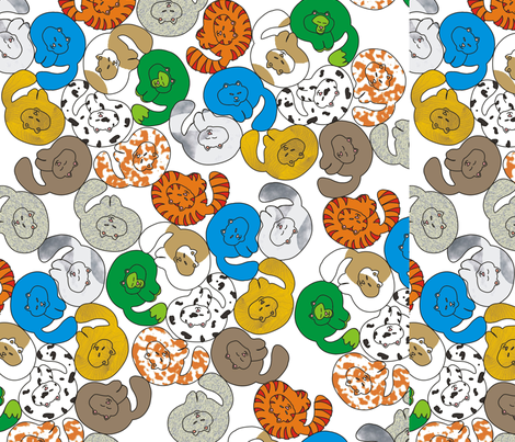 cats2 fabric by ulrikaln on Spoonflower - custom fabric