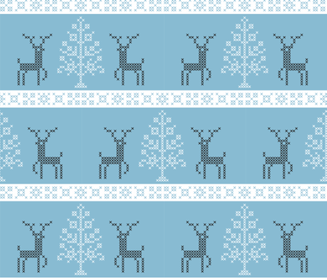 christmas_cross_stitch fabric by renule on Spoonflower - custom fabric