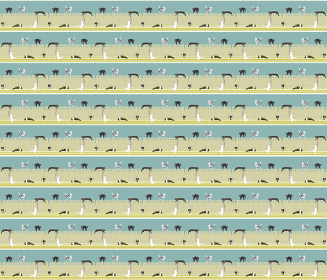 Country Cats fabric by newmom on Spoonflower - custom fabric