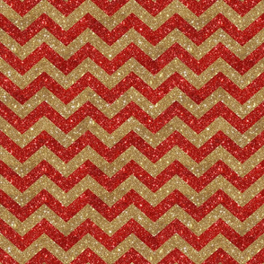 Glitter Chevron Red and Gold