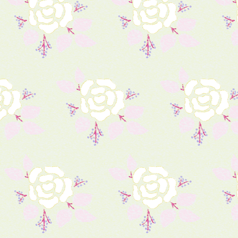 Frozen Rose fabric by renule on Spoonflower - custom fabric