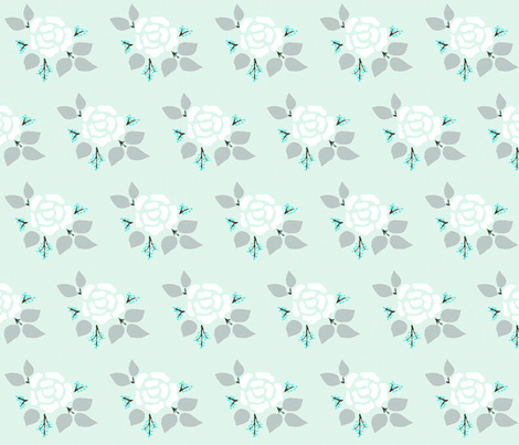 Cold rose fabric by renule on Spoonflower - custom fabric