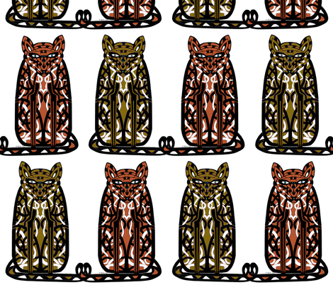 2 Sullen Cats-Blythe fabric by blythe's_fabric_boutique on Spoonflower - custom fabric