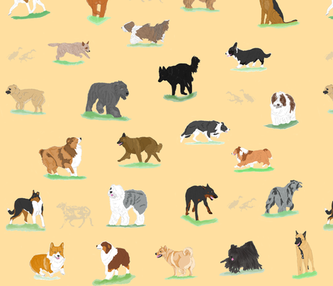 Round um up, Herdin' dogs! fabric by rusticcorgi on Spoonflower - custom fabric
