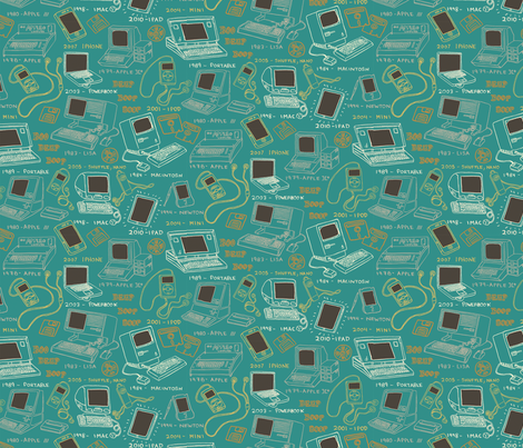 History of the Apple fabric by emuattacks on Spoonflower - custom fabric