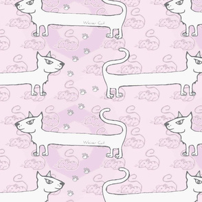 Weiner cat pink