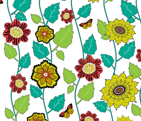 How Does Your Garden Grow fabric by poetryqn on Spoonflower - custom fabric