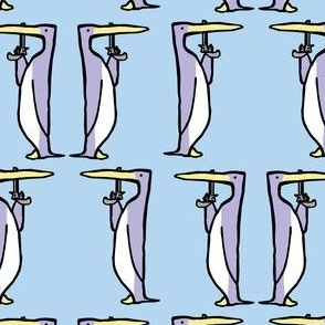 Dueling Penguins: Ice