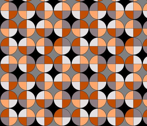 Quarters, in chocolate and orange fabric by wiccked on Spoonflower - custom fabric