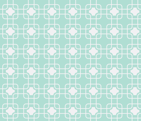 hollywood trellis mint fabric by ninaribena on Spoonflower - custom fabric