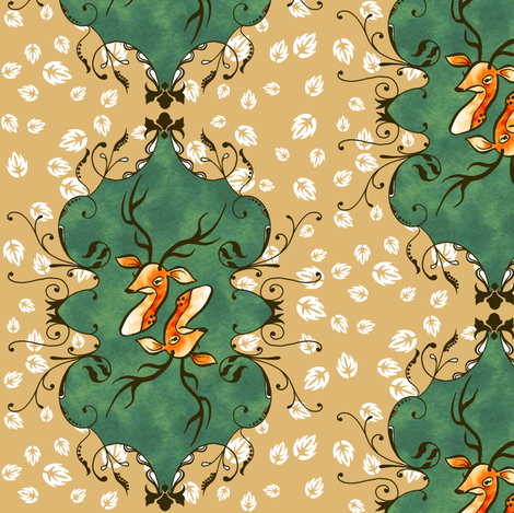 Deer fabric by jadegordon on Spoonflower - custom fabric