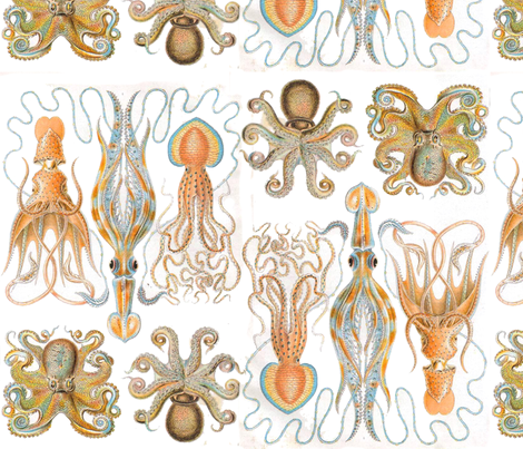 Squid Sandwich fabric by matthewbalon on Spoonflower - custom fabric