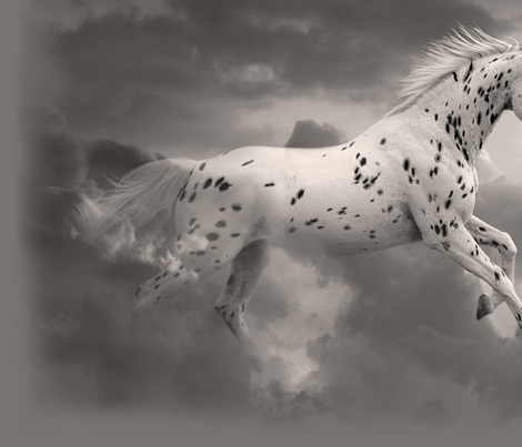 Cloud Runner Fantasy Horse in the Clouds fabric by ravenwoodstudiodesigns on Spoonflower - custom fabric