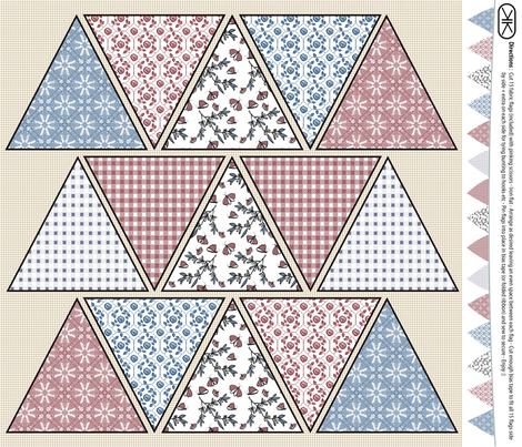 Bunting Flags fabric by kristopherk on Spoonflower - custom fabric