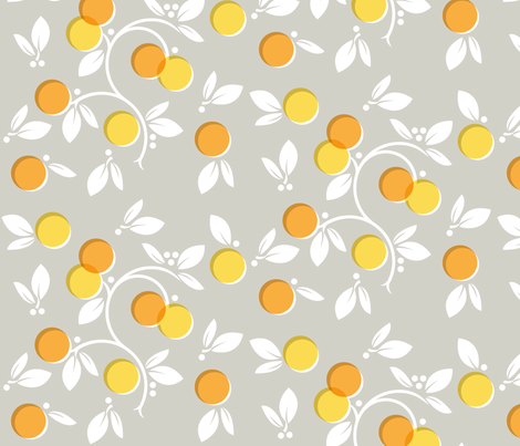 Citrus is a Winter Fruit fabric by tinornament on Spoonflower - custom fabric