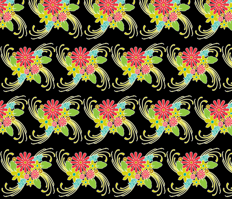 Brite in Spite Large Botanical fabric by tracydw70 on Spoonflower - custom fabric