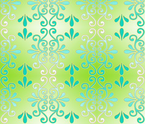 Neon Rococo fabric by tracydw70 on Spoonflower - custom fabric