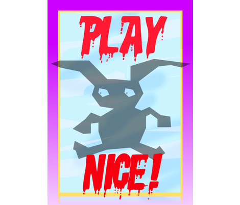 PLAY NICE V fabric by robin_rice on Spoonflower - custom fabric