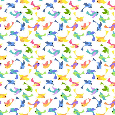 A bunting we will go birds fabric by vo_aka_virginiao on Spoonflower - custom fabric