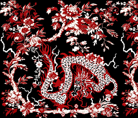 Dragon Flora fabric by paragonstudios on Spoonflower - custom fabric