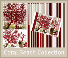 Red Coral Beach / plaid