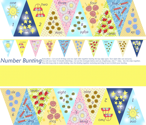 numbers fabric by lovefrombeth on Spoonflower - custom fabric