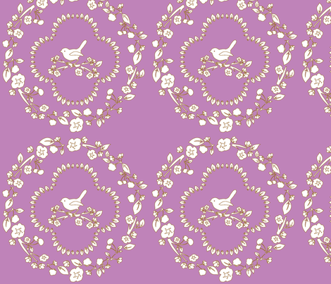 purple_simple_cherry_damask-ch fabric by flo_kraft on Spoonflower - custom fabric