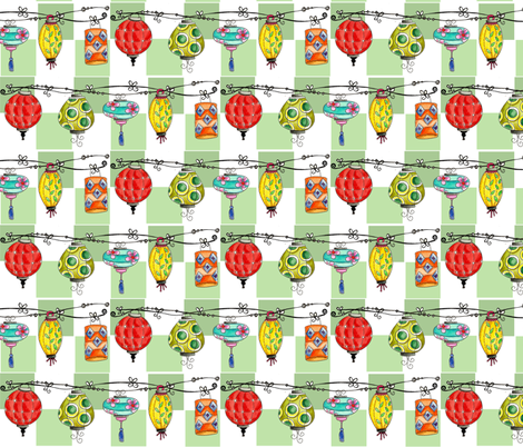 Chinese Lanterns fabric by sweet_pickle on Spoonflower - custom fabric