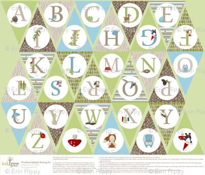 Woodland Alphabet Bunting Kit