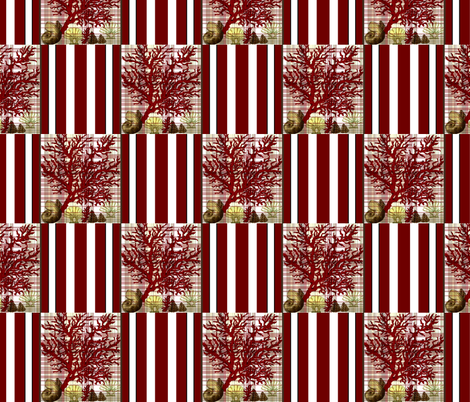 Red Coral Beach cheater quilt fabric by paragonstudios on Spoonflower - custom fabric
