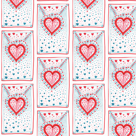Valentines Day Hearts fabric by captiveinflorida on Spoonflower - custom fabric